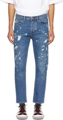 Acne Studios Blue Bla Konst Vintage Paint River Jeans
