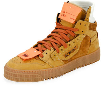 Off-White Off White Men's Off Court Suede Sneakers, Camel
