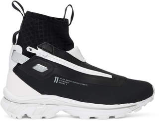 Boris Bidjan Saberi Black and White Salomon Edition Nordic Hybrid Sneakers