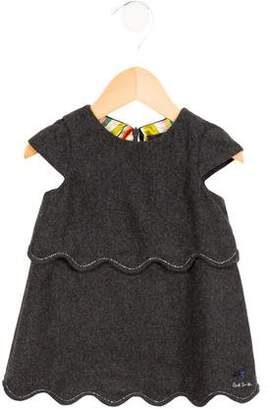 Paul Smith Girls' Scalloped A-Line Dress