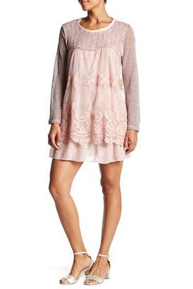 Couture Simply Long Sleeve Crew Neck Dress