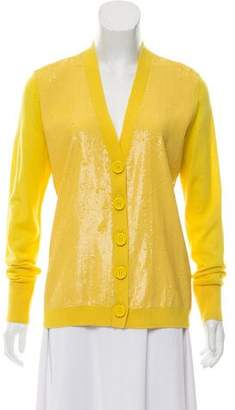 Tory Burch Wool Sequin Embellished Cardigan