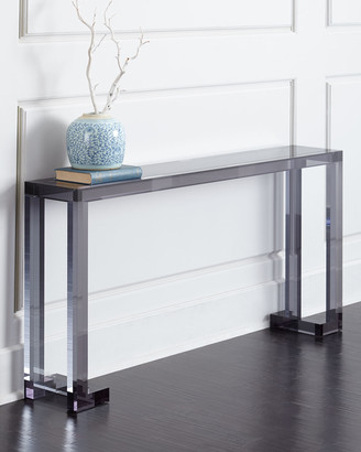 Interlude Home Calissa Noire Acrylic Console