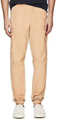 Tomas Maier MEN'S TECH-TAFFETA SWEATPANTS - BEIGE/TAN SIZE L