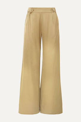 Mother of Pearl Bridget Satin Wide-leg Pants - Gold