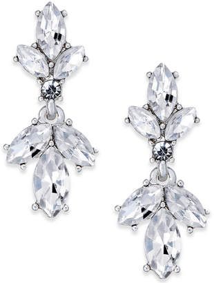 Charter Club Silver-Tone Crystal Drop Earrings, Created for Macy's