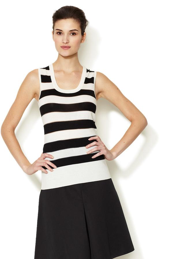 Carolina Herrera Striped Wool Top