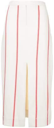 Bassike striped midi skirt