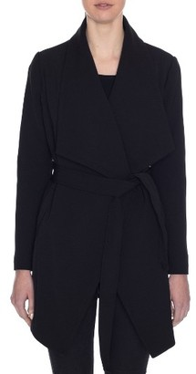 Women's Tahari Abbey Draped Collar Wrap Coat $148 thestylecure.com