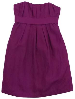 Ali Ro Magenta Pleated Silk & Linen Strapless Dress $78.99 thestylecure.com