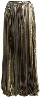 Maria Lucia Hohan Sada pleated silk blend maxi skirt