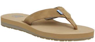 4f92e2241361 Mens Brown Leather Flip Flops - ShopStyle UK