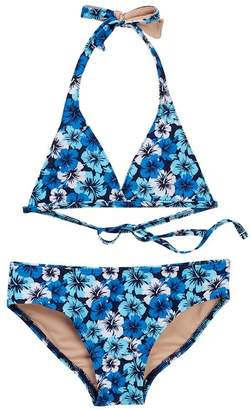 Toobydoo Cape Jasmine Hibiscus Print Bikini (Toddler, Little Girls, & Big Girls)