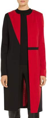 St. John Slanted Color Block Milano Jacket