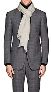 From The Road FROM THE ROAD MEN'S VARA MERINO WOOL SCARF-LIGHT GRAY