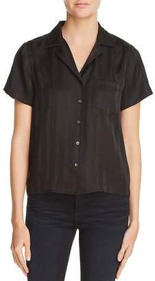 Alexander Wang Striped Silk Jacquard Shirt