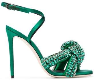 Marco De Vincenzo embellished knot sandals