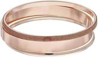 Rose Gold Tone Glittery Bangle Bracelet Set