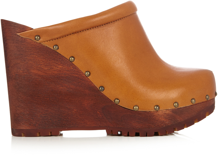 See By ChloeSEE BY CHLOÉ Clive leather wedge clogs