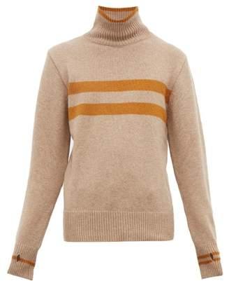Oliver Spencer Talbot Striped High Neck Wool Sweater - Mens - Beige