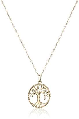 14k Gold Tree of Life Pendant Necklace