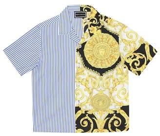 Versace Printed cotton shirt