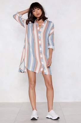 Nasty Gal Stripe There Shirt Dress