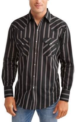 Plains Big And Tall Men's Long Sleeve Stripe Western Shirt
