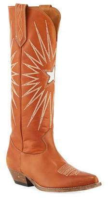 Golden Goose Wish Star Knee-High Cowboy Boot