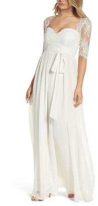 LuLu*s Sweetheart Chiffon Gown