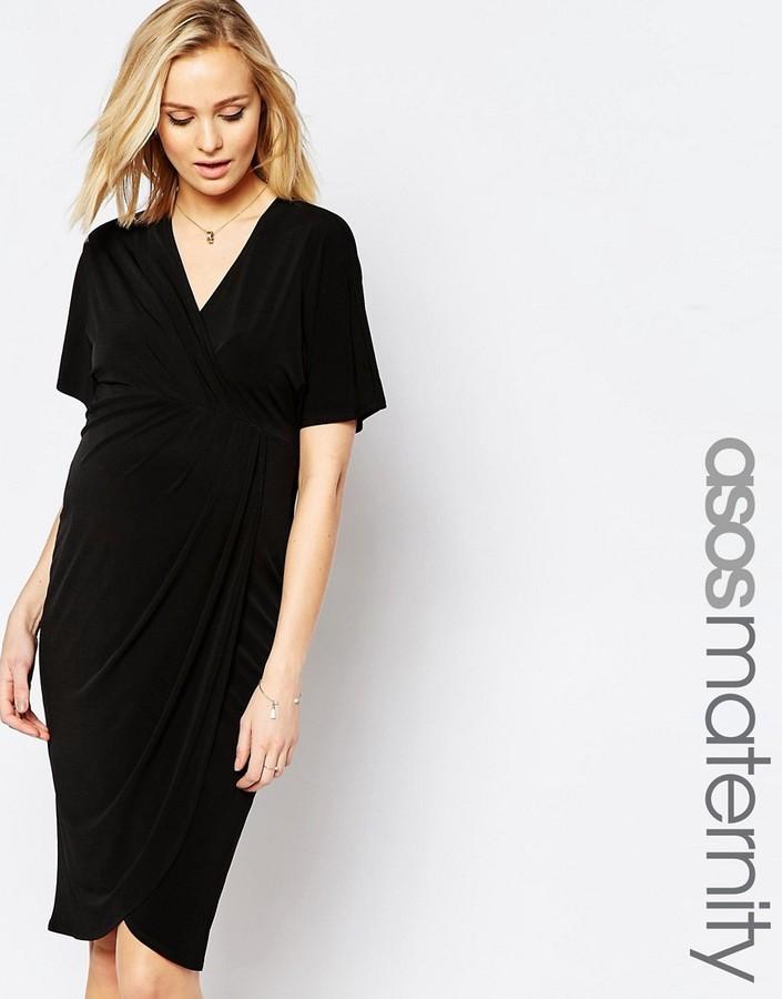 ASOS Maternity Wrap Dress in Crepe