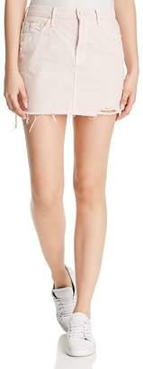 Mother The Vagabond Distressed Frayed Denim Mini Skirt