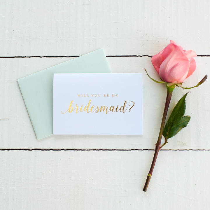 Etsy Gold Foil Will You Be My Bridesmaid card bridesmaid proposal bridal party gift bridesmaid gift weddi
