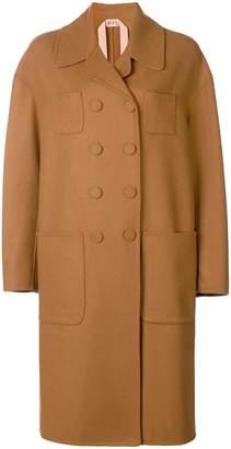 No.21 boxy double-breasted coat