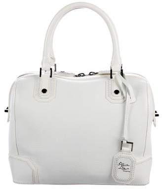 Pre Owned At Therealreal Alice Olivia Patent Leather Trimmed Satchel