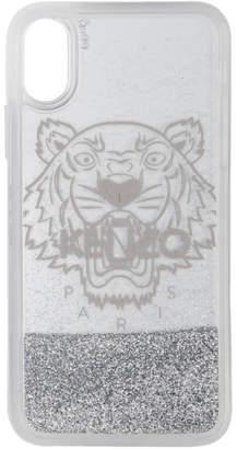 Kenzo Silver Glitter Tiger Head iPhone X/XS Case
