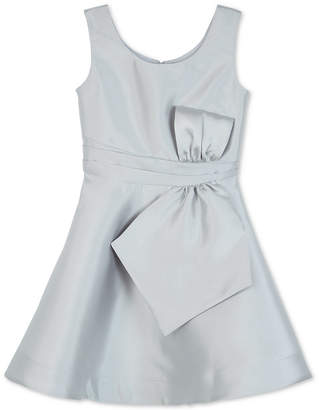 BCX Big Girls Satin Bow-Front Dress