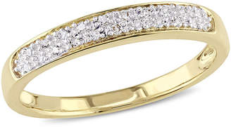 MODERN BRIDE Womens 1/10 CT. T.W. Genuine White Diamond 10K Gold Wedding Band