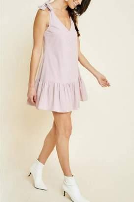 Hayden Los Angeles Bow-Strap Button Dress
