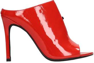 Jeffrey Campbell Red Patent Leather Sandals