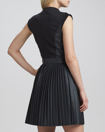 French Connection Solar Pleated-Skirt Dress