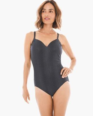 Chico's Animal Foil Sweetheart Mio One-Piece Swimsuit