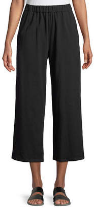 Eileen Fisher Slouchy Cropped Organic Slub Jersey Pants, Petite