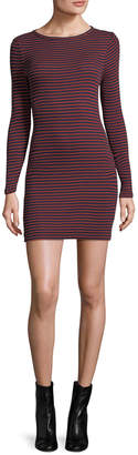 French Connection Striped Crewneck Dress