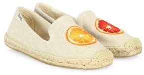Soludos Blood Orange Embroidered Espadrille Flats $65 thestylecure.com