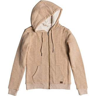 Roxy Junior's Trippin Sherpa Zip-Up Fleece Sweatshirt