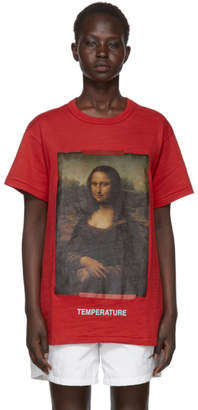 Off-White Red Diagonal Monalisa T-Shirt