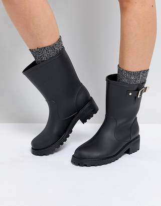 London Rebel Buckle Welly