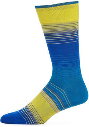 Bugatchi Men's Engineered-Stripe Socks