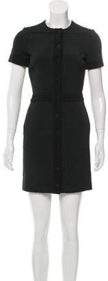 Balenciaga Short Sleeve Mini Dress Black Short Sleeve Mini Dress
